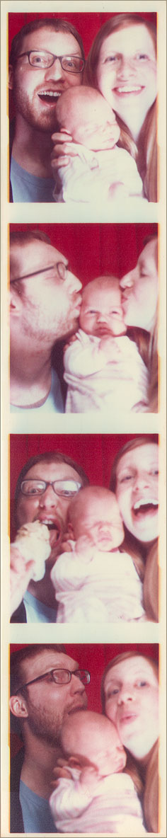 Pat, Greta, and Fran in the Photo Booth