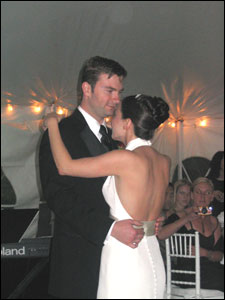 Mike and Holly's first dance to -Thank You- performed by Tori Amos