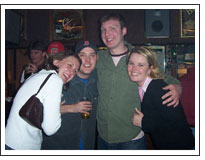 Sara, Pete, Pat, and Mindy at Carnsie's 04/17/2003
