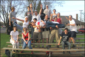 kickball group photo