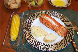 Father's Day lobster dinner