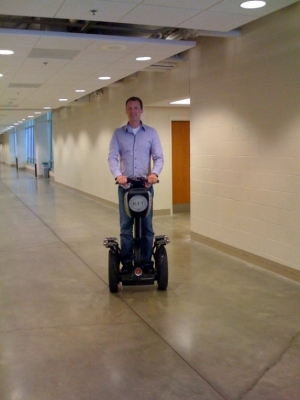 Pat on Segway